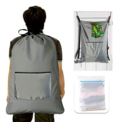 Amazon com: Oxford Laundry Bag Backpack, College Laundry Bag