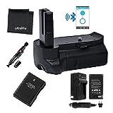 Bluetooth Battery Grip Bundle F/ Nikon D3100, D3200, D3300: Includes Vertical Battery Grip, 1-Pk EN-EL14 Long-Life Battery, Charger, Microfiber Cleaning Cloth, Lens Cleaning Pen