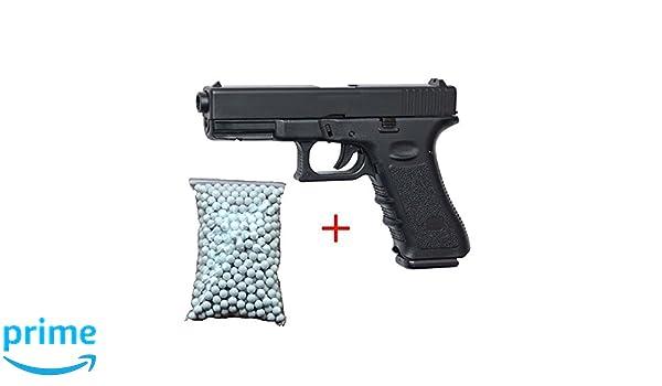 Airsoft Galaxy G.15 Tipo Glock 15, culata de metal, de resorte, color negro, tipo fuerzas especiales / servicio de inteligencia / cosplay, potencia de 0.5 ...