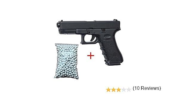 Airsoft Galaxy G.15 Tipo Glock 15 tipo fuerzas especiales // servicio de inteligencia // cosplay de resorte culata de metal potencia de 0.5 julios con bolsa de 600 balines gratuita color negro