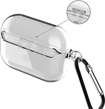 Amazon Com Airpods Pro Case Clear Crystal Transparent Tpu Anti