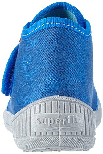 Superfit Jungen Bully Hohe Hausschuhe Blau (BLUET 84)