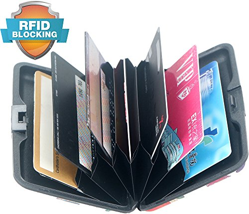 Latest Aluminum RFID Blocking Credit Card Holder for Men Women - Stylish Travel Wallet - Best protection for Bank Debit, ID, ATM, Cards against Scanning Criminals,7 Slots,Flowery Print
