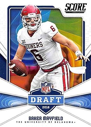 official photos 7e383 ce50b Amazon.com: 2018 Score NFL Draft #17 Baker Mayfield Oklahoma ...