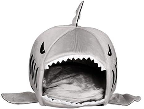 Kenmont Lovely Animal - Cama de tiburón pequeña para gatos o perros, camas para mascotas