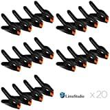 LimoStudio 20 PCS Photography Backdrop Support Spring Clamp for Background Muslin, Canvas, Paper, Chromakey Screen, Heavy Duty Clip, Photo Studio, AGG1424