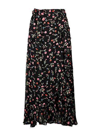 Ganni Women's F3174099 Black Viscose Skirt from GANNI