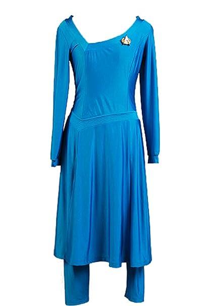 Daiendi Star Trek Deanna TROI Cosplay Disfraz Adulto Talla Azul ...