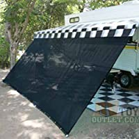 Black RV Awning Shade Net 10' X 16' Sun Shade Canopy Shelter