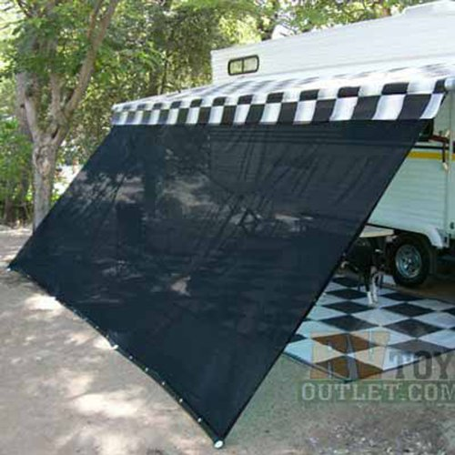 Black RV Awning Shade Net 10 X 16 Sun Canopy Shelter Kit Truck Bed Tailgate Accessories