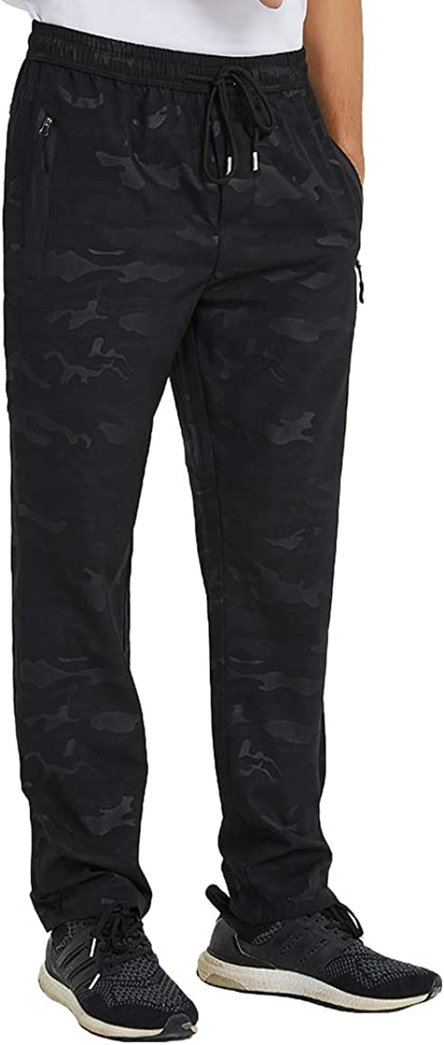 TBMPOY Mens Outdoor Track Jogger Sweat Pants Lightweight Quick Dry Breathable Hiking Mountain Pants