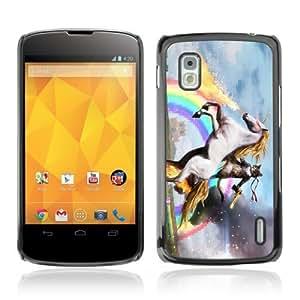 YOYOSHOP [Funny Cat, Unicorn, Rainbow LOL MEME WTF] LG Google Nexus 4 Case