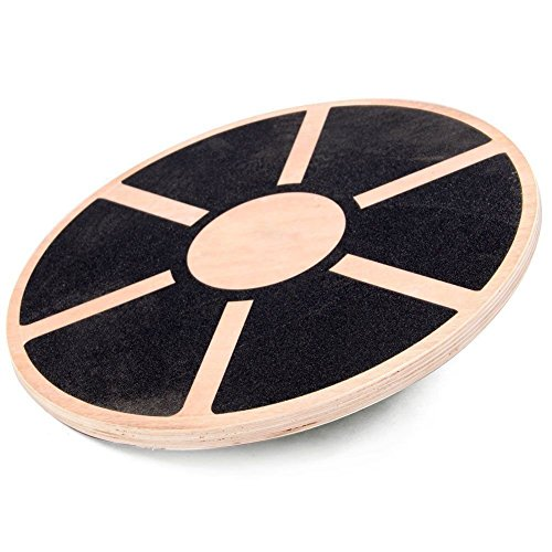Therapist s Choice Wooden Balance Board with Non-Slip Pad, 15.5-Inch Diameter