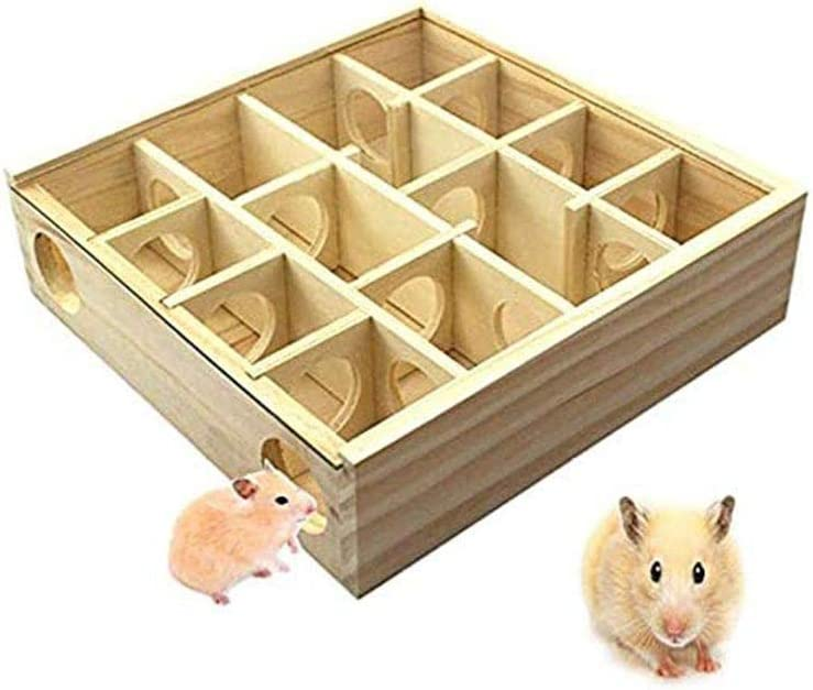 YYDZ Hamster Laberinto Juguetes, jerbo Mascota laberintos túnel de Madera Rata Ratón Jerbo Ratones Pequeños Animales del túnel Juego Juguetes Actividad Laberinto (Color : 1)
