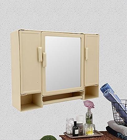 Zahab Pulse Three Door Large Storage Bathroom Cabinet With Mirror