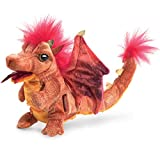 Image of Folkmanis Fire Dragon Hand Puppet Plush