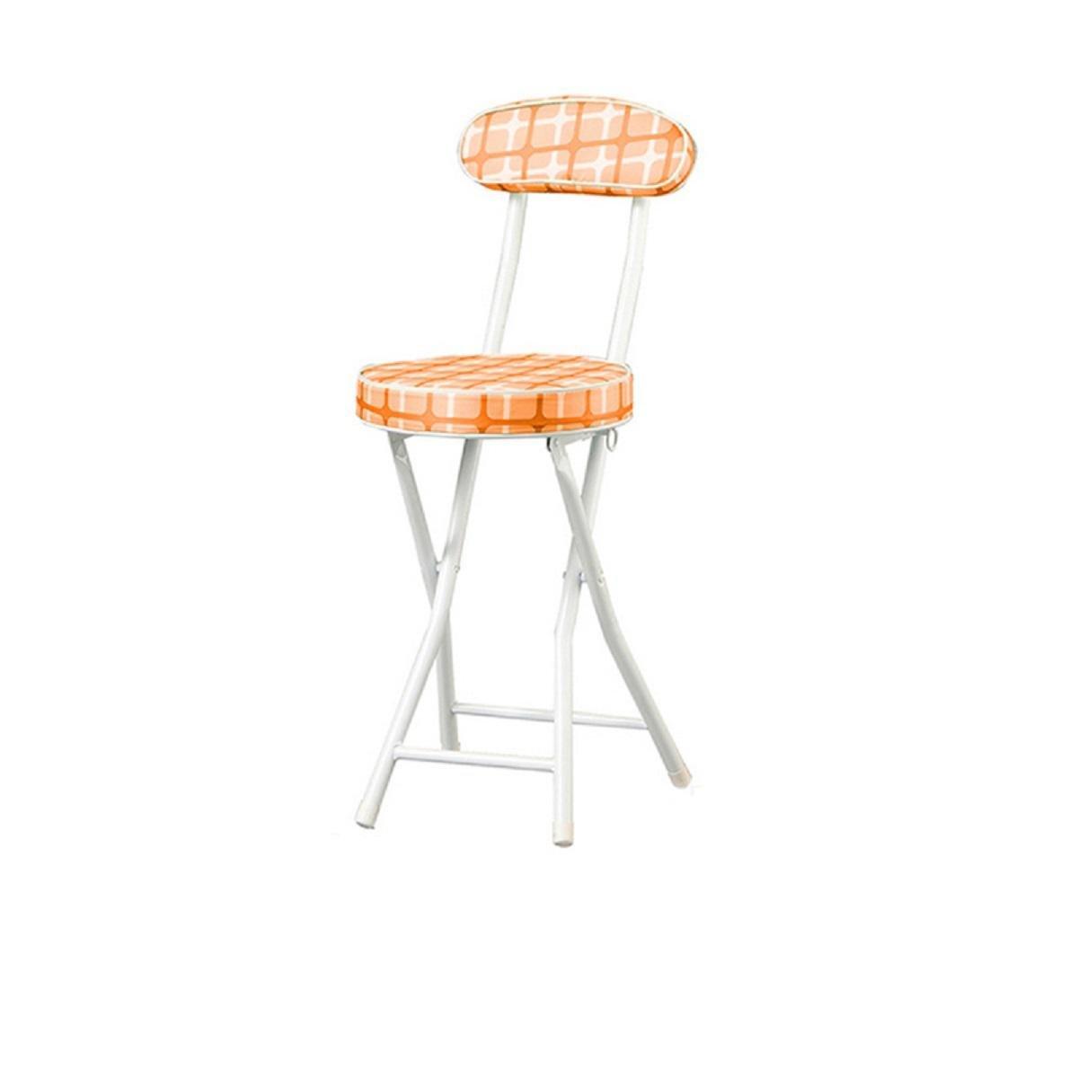 GAOJIAN Home Chair Modern Backrest Chair Stool Metal Portable Folding Computer Chair Maximum Weighing 90 Kg , a