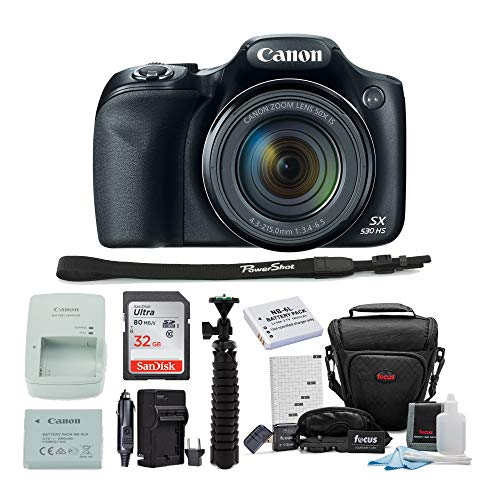 Canon Powershot SX530 HS Camera with 32GB Deluxe Accessory Kit (Cannon 16 Mp Camera)