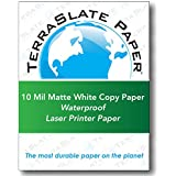 "TerraSlate Paper 10 MIL 8.5"" x 11"" Waterproof Laser Printer/Copy Paper 100 Sheets"