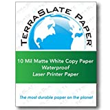 TerraSlate Paper 10 MIL 8.5'' x 11'' Waterproof Laser Printer/Copy Paper 500 sheets