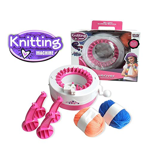 Liberty Imports Smart Weaver Knitting Kit Machine for Kids - Quick Knit Loom Easy to Use
