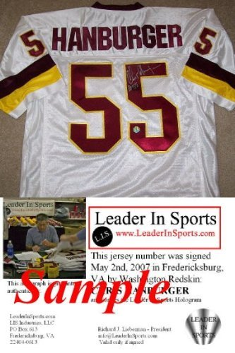 Chris Hanburger Autographed Jersey - Washington Redskins