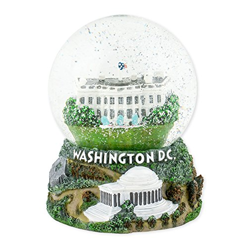 Washington DC Capitol 100mm Resin Glitter Water Globe Plays Tune Star Spangled Banner (Best Souvenirs From Dc)