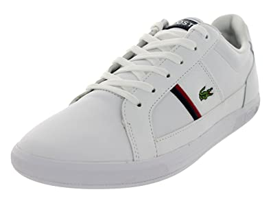 6b2bbca67 Lacoste Men s Europa Frx SPM White Dk Blue Casual Shoe 13 Men US ...
