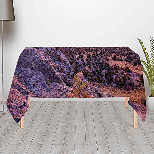 - Nature Decor Fashionable Satin Tablecloth,Surreal Sunrise Sky Horizon over Mountain Valley National Monument Dusk Print for Buffet Table Parties Holiday Dinner Wedding & More,70.08''W x 51.97''H