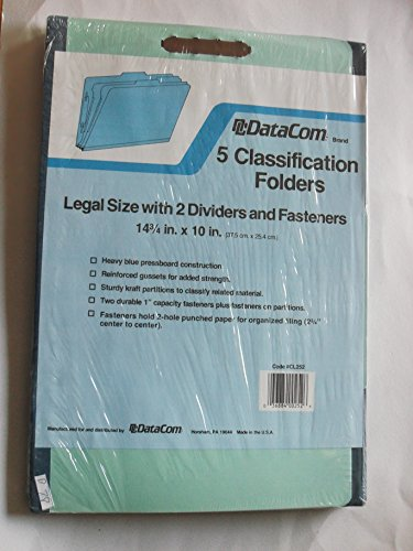 datacom-5-classification-folders-legal-size-with-2-dividers-and-fasteners-cl252