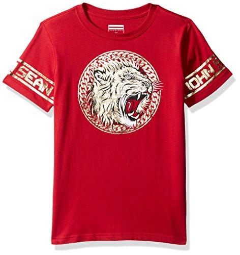 Sean John Boys' Big Lion Empire Short Sleeve Tee, True red, L from Sean John