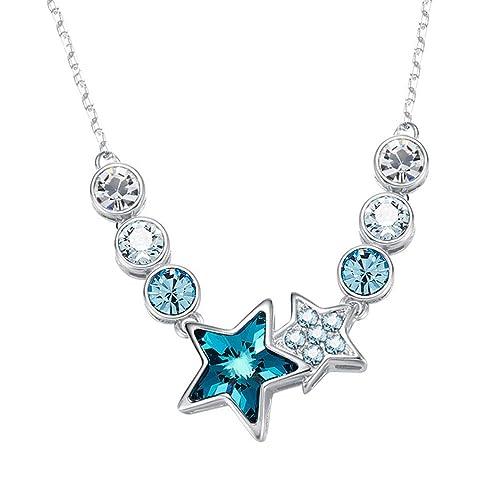 513fc21bae6e collares oro blanco para mujer con piedras de cristal de swarovski ...