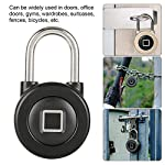 Tosuny-Lucchetto-per-Impronte-digitali-USB-Bluetooth-Phone-App-Impronta-Digitale-Lucchetto-Impermeabile-IP65-per-Porte-Porte-da-Ufficio-palestre-armadi-ValigiaNero