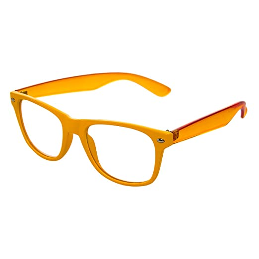 60dc2050f76 6 Pack Unisex Orange Clear Lens Translucent Sunglasses Bulk Set Lot ...