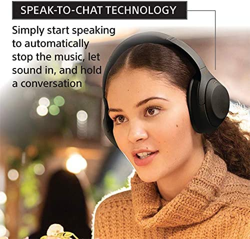 Sony WH-1000XM4 Wireless Industry Leading Noise Canceling Overhead Headphones with Mic for phone-call and Alexa voice control, Black 51AaEqvlvHL