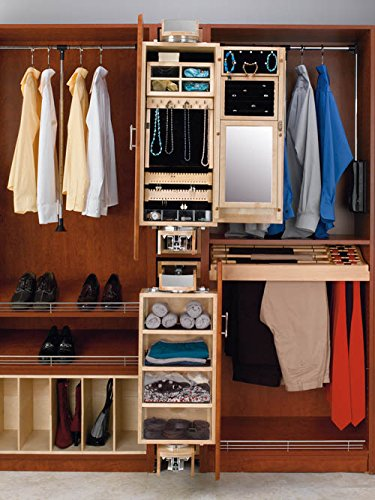 Closet Armoires-Ladie's Natural Wood, Pivot-Out Closet Organizers, 8''W x 16''D x 42''H Dimensions, Ladies Armoire Ladies Armoire by handyct