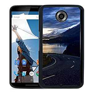 New Beautiful Custom Designed Cover Case For Google Nexus 6 With Road Along Phone Case