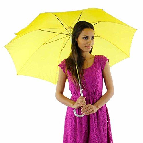Sleek and Stylish Fiberglass Umbrella, Yellow