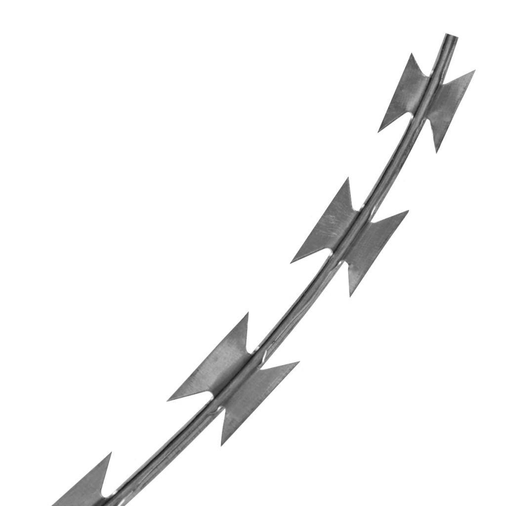 Stacheldraht Natodraht Klingendraht Sperrdraht Garten Sicherheit Verzinkter Stahl Schutz Ihres Gartens oder Hofs 60 m f/ür alle Au/ßenverwendung