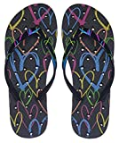 Showaflops Womens' Antimicrobial Shower & Water Sandals for Pool, Beach, Dorm and Gym - XOX Hearts...