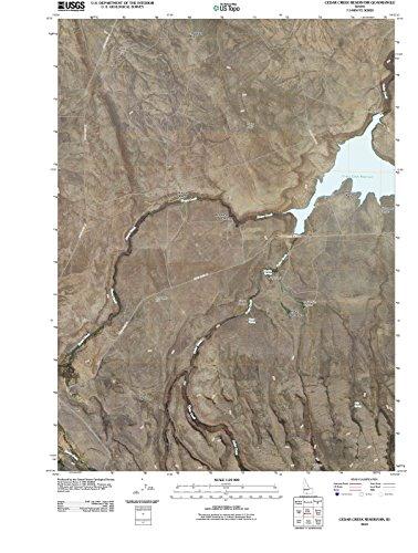 Idaho Maps | 2010 Cedar Creek Reservoir, ID USGS Historical Topographic | Cartography Wall Art | 44in x ()