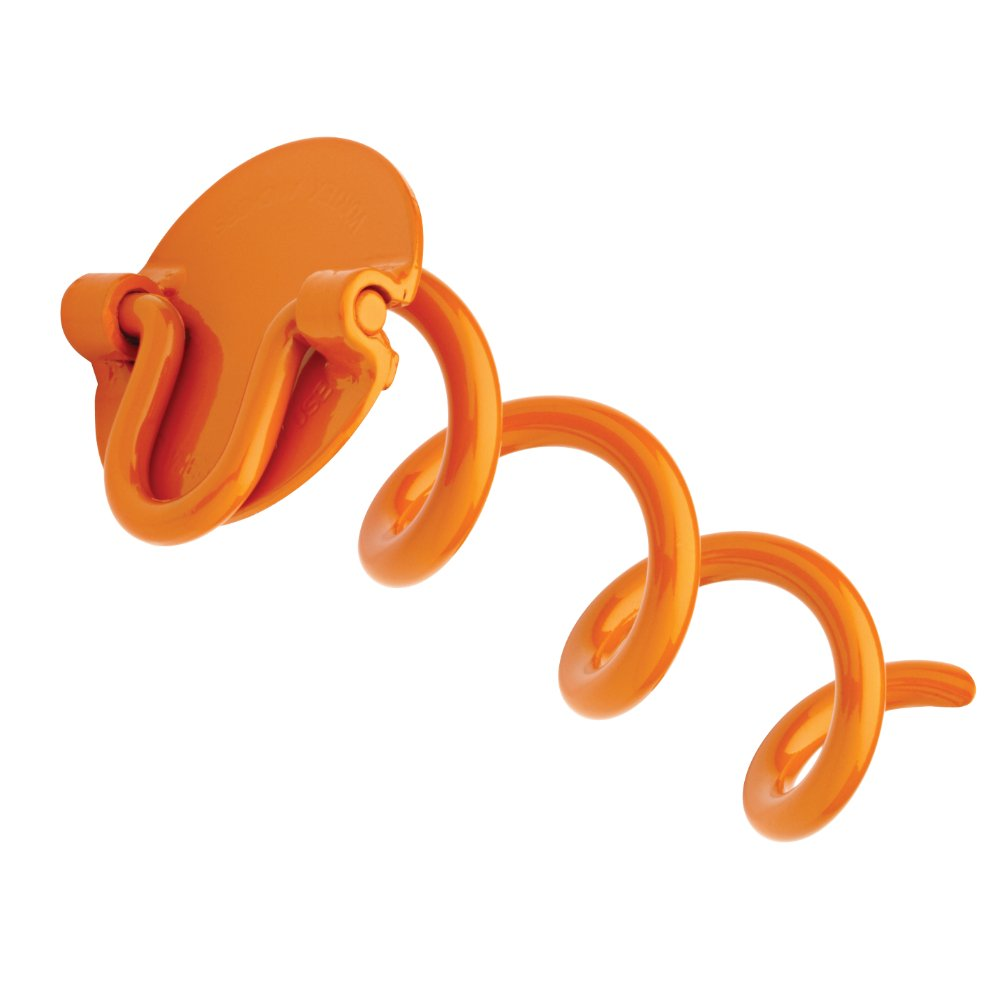Liberty Outdoor ANCHFR8-ORG-A Folding Ring Spiral Ground Anchor Orange 8-Inch