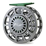Piscifun Platte Fully Sealed Drag Large Arbor Fly Fishing Reel with CNC-machined Aluminum Alloy Body 7/8 Gunmetal