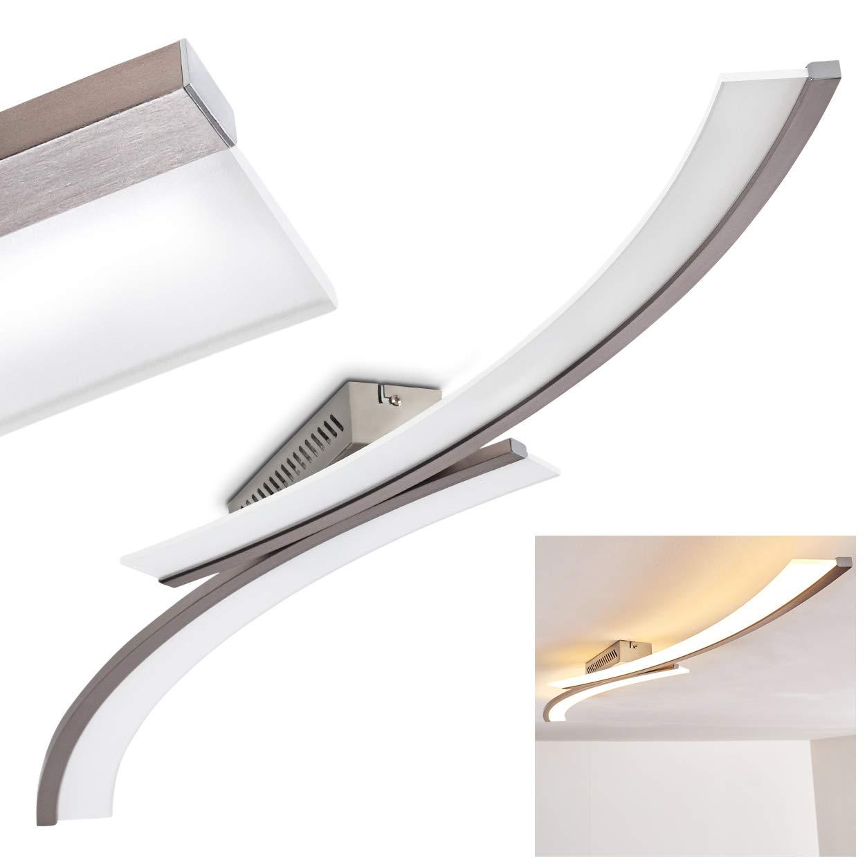 LED Decken-Leuchte Orgia – 3000 Kelvin warmweißes gemütliches Licht – Wohnzimmerlampe – Flurlicht – Küchen-Beleuchtung
