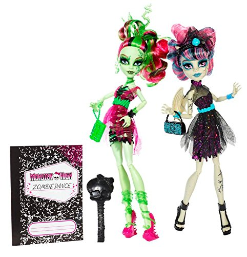 Monster High Zombie Shake Rochelle Goyle and Venus McFlytrap Doll (2-Pack) (Monster High Dolls Zombie Dance)