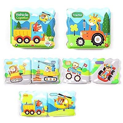 Instom Baby Bath EVA Book Tear Proof Infant Shower Toy Early Education Toys Bath Toys: Clothing