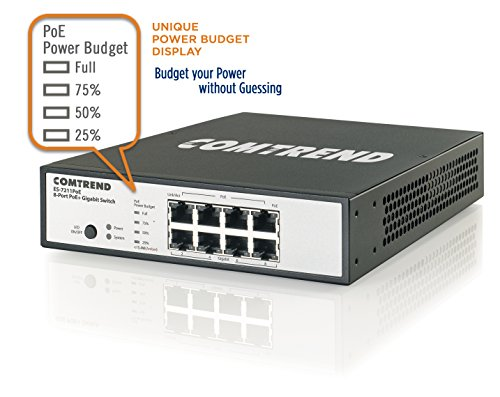 Comtrend ES-7211POE High Power Poe Gigabit Switch, 8 Port by Comtrend