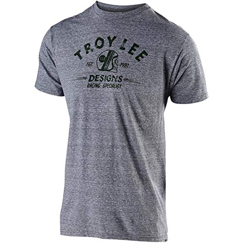 Troy Lee Designs Men's Racing Specialist T-Shirt (Large, Vintage Gray Snow)