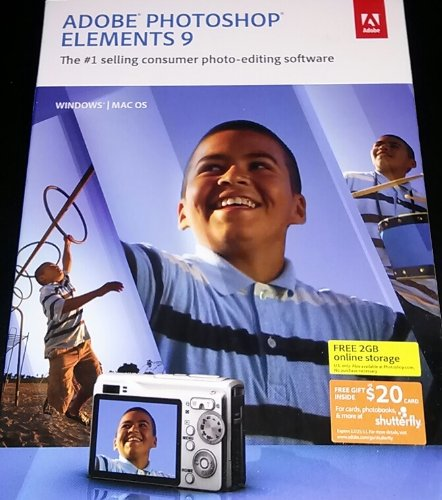 Adobe Photoshop Elements 9 - Mac/Windows Authentic (883919199313) by Adobe