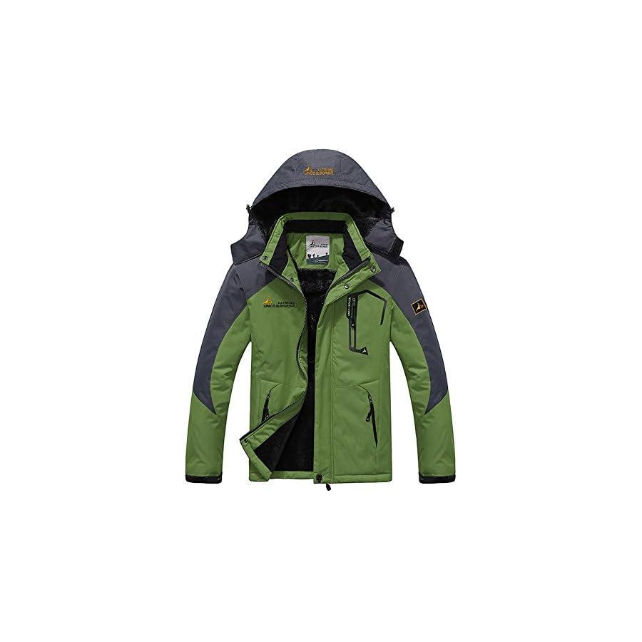 Seeduck Men's Waterproof Mountain Fleece Windproof Ski Jacket
